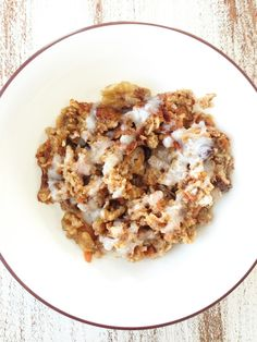 Baked Carrot Cake Oatmeal — The Skinny Fork. I read through the ingredients and it is much healthier than I thought!