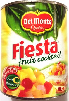 del-monte-fiesta-fruit-cocktail Snack Recipes, Snacks, Pinoy Food, Coco, Pineapple, Vitamins, Chips, Cocktails, Fruit