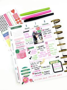 #afterthepen using a new pack of Happy Planner® stickers by mambi Design Team member Heather Kell   me & my BIG ideas