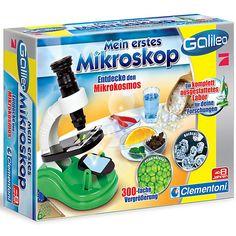 Galileo: Mein erstes Mikroskop von Clementoni<br /> <br /> Galileo  –  Wissenschaft  &  Spiel. Mit dem interessanten Spielprogramm erhalten Jungen und Mädchen klare und einfache Antworten auf viele faszinierende Fragen. Alle aufgeweckten und wissensdurstigen Kinder werden gefördert im Verstehen, Erleben und Beobachten unserer  Umgebung. Hier werden Ursache und Wirkung von Phänomenen wissenschaftlich erklärt. <br /> <br /> Das Einsteiger-Mikrosko...