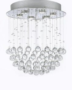 """Modern Contemporary Chandelier """"Rain Drop"""" Chandeliers Lighting With Crystal Balls! W18"""" H21"""" - F93-1118/6"""