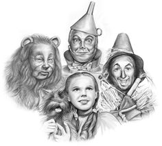 Drawing of Dorothy & friends.
