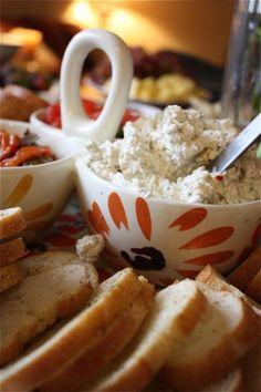 Garlic Feta Cheese Dip | AggiesKitchen.com  #dip #appetizer #feta