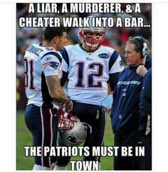 Patriots humor featuring Tom Brady, Coach Bill B., and Aaron Hernandez! Hmmmm makes you think Funny Football Memes, Basketball Memes, Funny Sports Memes, Sports Humor, Soccer, Funny Nfl Memes, American Football Memes, Nba Memes, Golf Humor