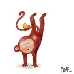Working on some animal characters  #kidlit #childrenbookillustration #childrenillustration #monkey