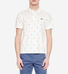 NEW Printed Dot Polo by Lacoste | $110 | French brand Lacoste is famous for their mix of trend and tradition. The brand's dot printed polo fits slim and is constructed from high quality cotton. The preppy-meets-street piece works with denim and fresh white sneakers. | GOTSTYLE.CA