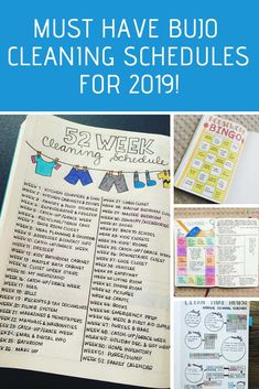 25 Bullet Journal Cleaning Schedule Spreads {to turn you into a domestic goddess! January Bullet Journal, Bullet Journal Cover Page, Bullet Journal Inspiration, Journal Covers, Journal Ideas, Bullet Journals, Bullet Journal Cleaning Schedule, Bullet Journal Layout Templates, Cleaning Hacks