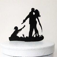 Wedding Cake Topper (Scary Horror Halloween Theme /Funny Humorous Creative)