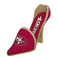 San Francisco 49ers Wine Bottle Holder - High Heel NFL Shoe