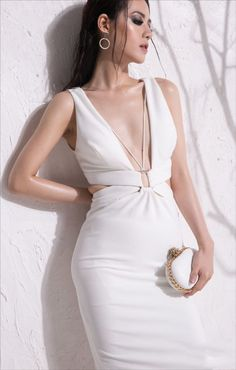 dambody.net - Đầm body thiết kế sexy,màu trắng quyến rũ Sexy Dresses, Beautiful Dresses, Casual Dresses, Short Dresses, Fashion Dresses, Sexy White Dress, White Midi Dress, Hollywood Fashion, Fashion Night