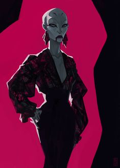 I don't know who the artist is… But I love this image of Ventress