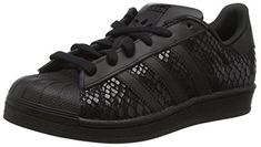 adidas Superstar, Damen Sneakers, Schwarz (Core Black/Core Black/Core Black), 36 2/3 EU (4 Damen UK) - http://on-line-kaufen.de/adidas/36-2-3-eu-adidas-superstar-damen-sneakers-3