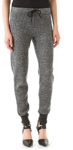 Tweed Print Sweatpants $235.00