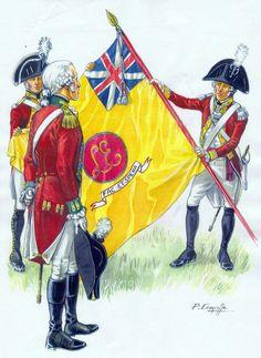 Le drapeau du fameux régiment Loyal Emigrant, représenté par Patrice Courcelle, Membre de La Sabretache.