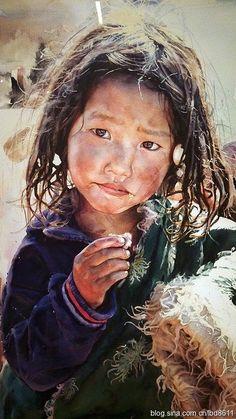 Watercolor Portrait Painting, Watercolor Art Face, Watercolor Paintings For Beginners, Watercolor Artists, Portrait Art, Watercolor Illustration, Watercolor Trees, Watercolor Landscape, Painting Art