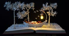 I Upcycle Old Books By Turning Them Into Magical Sculptures | Bored Panda