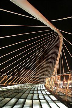 Zubizuri bridge, Spain - -