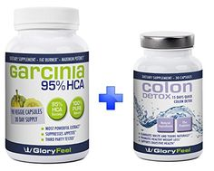 Garcinia Cambogia and Best Colon Detox BUNDLE For Fast Results, Combine 2 Best Sellers, 3 Months Supply, Max Strength Detox Cleanse Pills with 95% HCA Pure Cambogia Extract to Reduce Appetite and Belly Fat ** More info could be found at the image url.