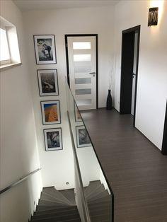 Photo frames on stairway