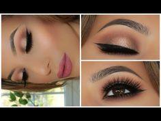 Soft Smokey Glitter Eye   Full Face Tutorial   Amys Makeup Box - YouTube