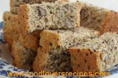 Healthy Banana Bread (Low fat/low sugar recipe made with agave and applesauce) (Low Carb Kuchen Apfelmus)