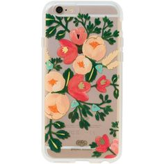 Rifle Paper Co Clear Peach iPhone 6 Hardcase