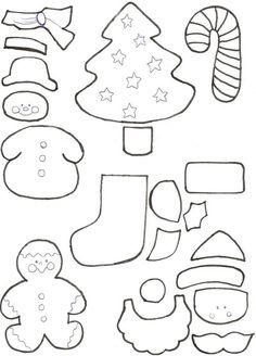Accesorios navideños Felt Christmas Decorations, Felt Christmas Ornaments, Christmas Stockings, Christmas Sewing, Pink Christmas, Felt Crafts, Christmas Crafts, Mery Chrismas, Creations