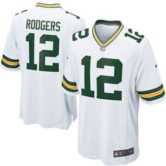 aaede8fee Nike Elite Green Bay Packers Aaron Rodgers 12 White NFL Jersey for Sale Sale