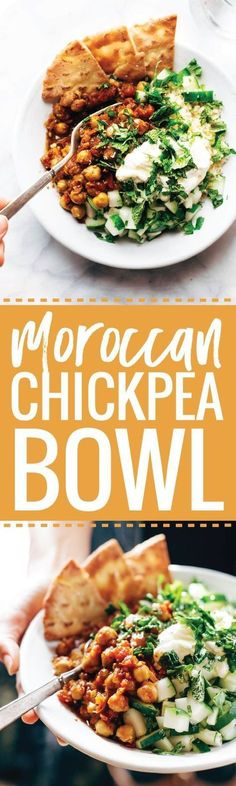Detox Moroccan-Spiced Chickpea Glow Bowl - Pinch of Yum Veggie Recipes, Vegetarian Recipes, Chicken Recipes, Cooking Recipes, Healthy Recipes, Vegetarian Cooking, Vegetarian Times, Healthy Meals, Delicious Recipes