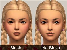 """sims-addictions: """"  -I normally don't like makeup on kids but I made a natural subtle blush for the cheeks which makes them so cute. :) Without it i think they just look too pasty. DOWNLOAD """""""