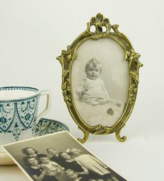 Antique Brass picture frame by CrystalBlueVintage on Etsy