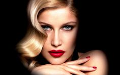 l'oreal laetitia casta | casta actress black blonde close up face girl l oreal laetitia casta ...