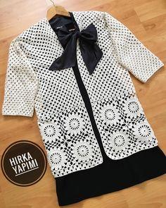Selamm # friends # 🤩 # finally # the cardigan # Recipe # # Crochet Squares, Crochet Granny, Crochet Top, Gilet Crochet, Crochet Cardigan, Baby Knitting Patterns, Crochet Patterns, Crochet Rabbit, Crochet Elephant