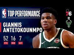 b07e932127a3 Giannis Antetokounmpo Records A CAREER-HIGH 52 points