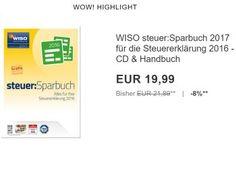 """Ebay: Wiso Steuer:Sparbuch 2017 für 19,99 Euro frei Haus https://www.discountfan.de/artikel/technik_und_haushalt/ebay-wiso-steuersparbuch-2017-fuer-19-99-euro-frei-haus.php Steuern sparen zum Schnäppchenpreis: Als """"Wow! des Tages"""" gibt es heute das """"WISO steuer:Sparbuch 2017"""" inklusive Handbuch zum Schnäppchenpreis von 19,99 Euro frei Haus. Ebay: Wiso Steuer:Sparbuch 2017 für 19,99 Euro frei Haus (Bild: Ebay.de) Das WISO steuer:Sparbuch 2017 ..."""