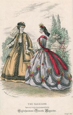 nice day dress from the 1860s