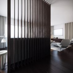 Wood Slat Room Divider