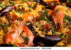 Sold at Shutterstock! Macro of Spanish paella. by eZeePics Studio, via ShutterStock