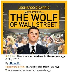 All 'Shiva P' wanted was some wolves from his The Wolf of Wall Street DVD - and…