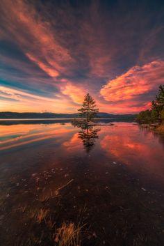 Lake Ringerike Norway.