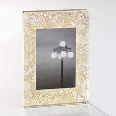 lace gold 4x6 frame in for the decorator | CB2 $17.95