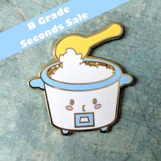 Seconds Sale Grade B - Rice cooker pot Enamel Pin Hat Lapel Flair Badge pin Clever Gadgets, New Gadgets, Jacket Pins, Cool Pins, Pin And Patches, Lapel Pins, Pin Collection, Creations, Ulzzang
