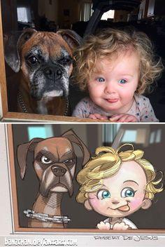 Robert DeJesus trasforma followers e cuccioli in cartoni animati
