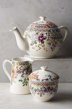 Gien Bagatelle Tea Set.