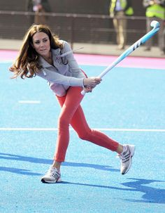 She put her athletic prowess on display when she played a game of | The 70 Best Kate Middleton Moments of All Time | POPSUGAR Celebrity Photo 9