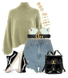 """""""Chanel x Topshop"""" by muddychip-797 ❤ liked on Polyvore featuring Topshop, Victoria Beckham, Gucci, River Island, Madewell, Chanel, Forever 21, gucci, fashionset and errands"""