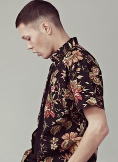 I Love Ugly | blacked out floral shirt. | Premium Mens Clothing