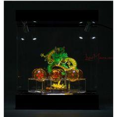Set completo de 7 bolas de dragón de 4cm + plataforma para las bolas de dragón + figura Shenron de Dragon Ball 84€ #LivingManga #LM