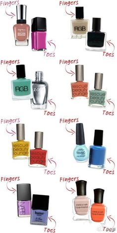 a handy guide to complementary manicure/pedicure colors!