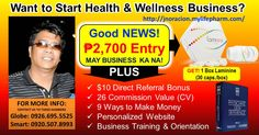 lang may Business ka na! Laminine One Bottle Enrollment - 1 Laminine box Business Success Starter Kit - Personalized LPGN Website & Virtual Office - LPGN Virtual Interactive Partner (VIP) Level 100 FREE for 90 days Way To Make Money, How To Make, 100 Free, Starter Kit, Good News, Vip, Health And Wellness, Count, Success